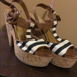 Perfect summer wedding shoe size 11 cork heel